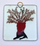 Fused glass olive tree with hanging loop
