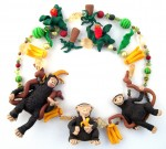 Necklace, Cheeky Monkeys, fimo and beads