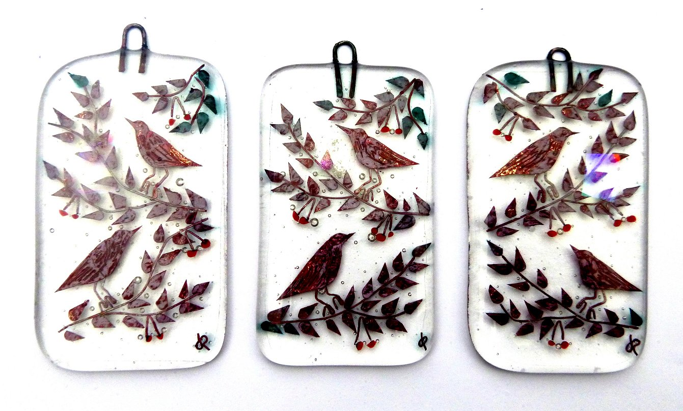 Spring 2016 fused-glass hanging