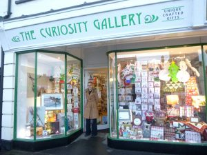 storefront of the Curiosity Gallery in St Ives