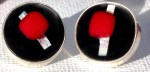 Fused glass and fine silver cabochon earrings