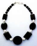 Sterling silver and black onyx necklace