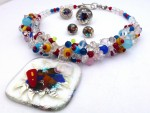 Winter Colour Dream Collection, necklace, earrings and rings