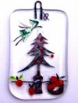 Christmas fairy and apple tree